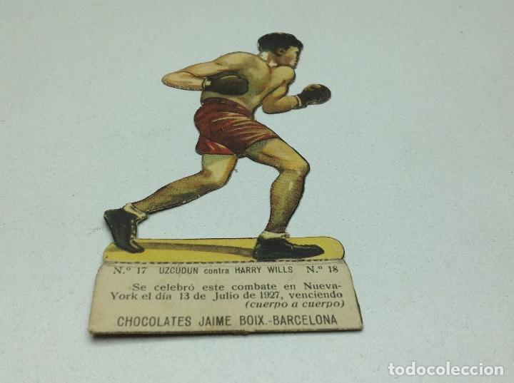 CROMO TROQUELADO - CHOCOLATES JAIME BOIX - BOXEO -1929 - BOXING CARD N° 17 UZCUDUN (Coleccionismo Deportivo - Cromos otros Deportes)