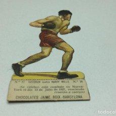 Coleccionismo deportivo: CROMO TROQUELADO - CHOCOLATES JAIME BOIX - BOXEO -1929 - BOXING CARD N° 17 UZCUDUN. Lote 118171319