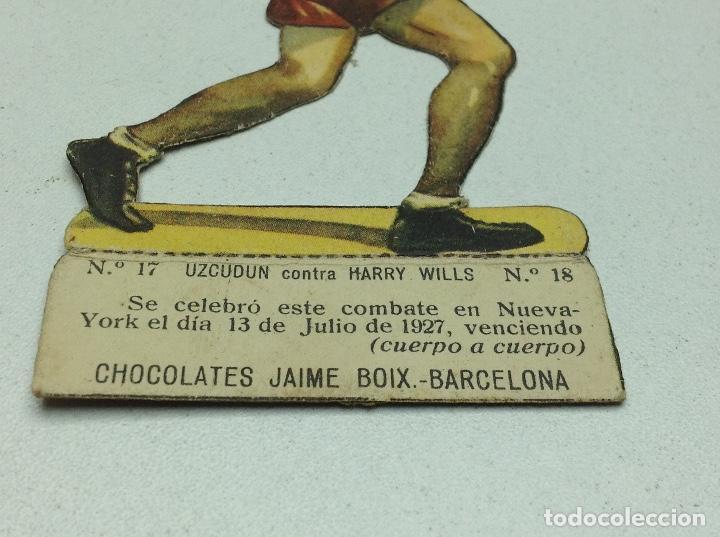 Coleccionismo deportivo: CROMO TROQUELADO - CHOCOLATES JAIME BOIX - BOXEO -1929 - BOXING CARD N° 17 UZCUDUN - Foto 2 - 118171319