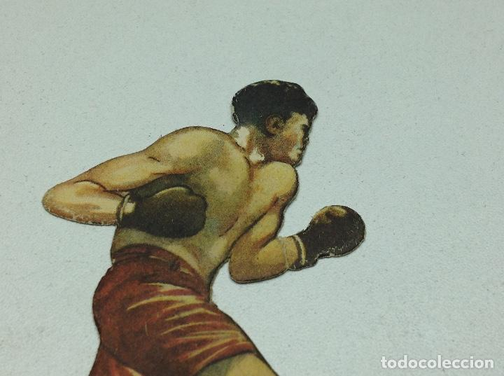 Coleccionismo deportivo: CROMO TROQUELADO - CHOCOLATES JAIME BOIX - BOXEO -1929 - BOXING CARD N° 17 UZCUDUN - Foto 3 - 118171319