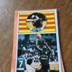 Coleccionismo deportivo: CJ357 CROMO DESPEGADO LIGA BALONCESTO 1986 1987 MERCHANTE 86 87 JOVENTUT JHONSON. Lote 118893799