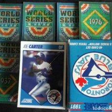 Coleccionismo deportivo: TORONTO BLUE JAYS 1991 - 40 CARD SET PLUS 5 MAGIC MOTION TRIVIA CARDS - COMPLETE!!!. Lote 119116211