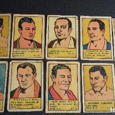 Coleccionismo deportivo: EDITORIAL VALENCIANA - 1941 - LOTE DE 10 CROMOS DIFERENTES DE BOXEO / BOXEADORES ( NUNCA PEGADOS ). Lote 120044319