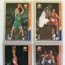 Coleccionismo deportivo: LOTE 4 FICHAS ACB 95 MUNDI CROMO. Lote 121131211