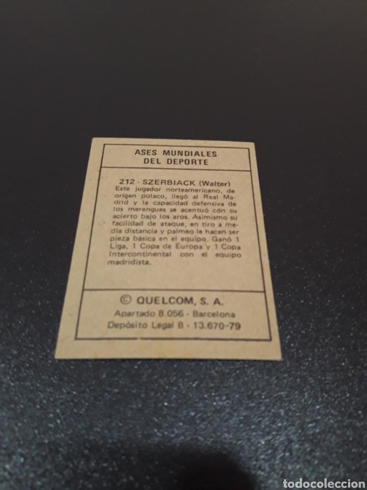 Coleccionismo deportivo: QUELCOM 1979. BALONCESTO. SZERBIACK. N° 212. NUEVO. - Foto 2 - 121258803