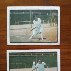 Coleccionismo deportivo: 2 CROMOS DE CHOCOLATE DE LAWN TENNIS / TENIS FEMENINO - AÑOS 20 - CHOCOLATES JOSE GIMENO DE ALBORAYA. Lote 121373448