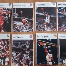 Coleccionismo deportivo: 1986 ROOKIE CARD MICHAEL JORDAN SPANISH LOTE DE 8 CARDS CROMOS. Lote 121788203
