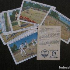 Coleccionismo deportivo: CROQUET -ENSEÑANZA DEL JUEGO- CHOCOLATE PI -COLECCION 12 CROMOS -VER FOTOS-(V-14.593). Lote 121910791