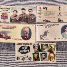 Coleccionismo deportivo: A ELEGIR A 5 EUROS AUTOMOVILISMO FANGIO ASCARI HIPICA BARCELONA CAMPO A TRAVÉS CHOCOLATES BATANGA. Lote 123139267