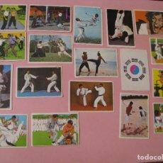 Coleccionismo deportivo: 44 CROMOS PEGATINAS DE ÁLBUM DE LA REVISTA FRANCESA KUNG FU KARATE. 1976. BRUCE LEE. DR. JUSTICE.. Lote 123376951