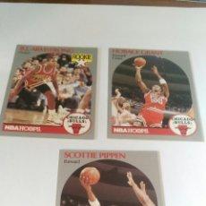 Coleccionismo deportivo: NBA HOOPS 90-91 LOTE 3 CROMOS CHICAGO BULLS. Lote 123416175