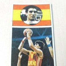 Coleccionismo deportivo: BALONCESTO 1986 1987 EDITORIAL J.MERCHANTE CONVERSE, MACGREGOR CROMO 144 EPI SIN PEGAR. Lote 123584295