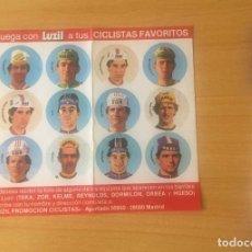 Coleccionismo deportivo: PEGATINAS CHAPAS CICLISTAS (ECHAVE, PINO, AJA, BELDA, GASTÓN, BONOMELLI, CASTELLAR, LUDO LOOS) . Lote 126931127