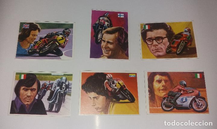 LOTE QUELCOM ASES MUNDIALES 1979, MOTOCICLISMO (AGOSTINO, SAARINEN, SHEENE, ETC.). 6 CROMOS (Coleccionismo Deportivo - Cromos otros Deportes)