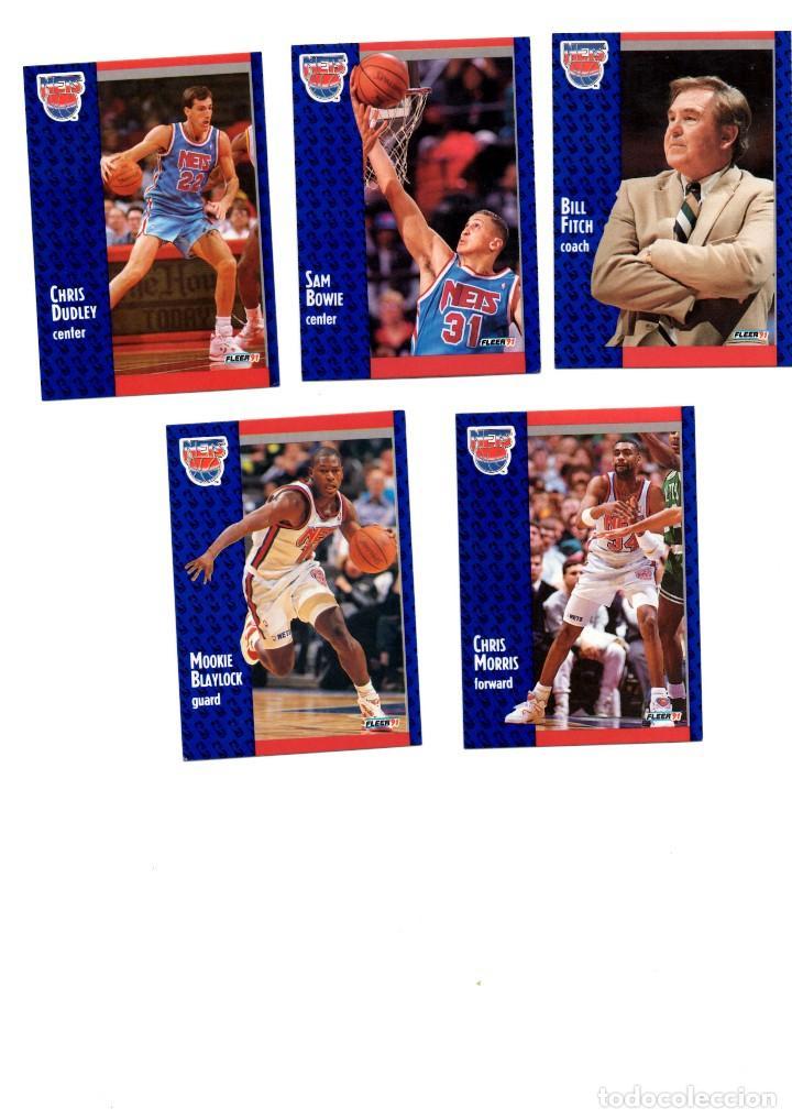 LOTE 5 CROMOS BALONCESTO NBA FLEER 91 NEW JERSEY NETS (Coleccionismo Deportivo - Cromos otros Deportes)