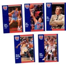 Coleccionismo deportivo: LOTE 5 CROMOS BALONCESTO NBA FLEER 91 NEW JERSEY NETS. Lote 128944035