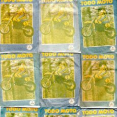 Coleccionismo deportivo: TODO MOTO. CROMOS CANO. 9 SOBRES SIN ABRIR. CON CROMOS. NUEVOS.. Lote 129229707