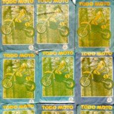 Coleccionismo deportivo: TODO MOTO. CROMOS CANO. 9 SOBRES SIN ABRIR. CON CROMOS. NUEVOS.. Lote 129229751