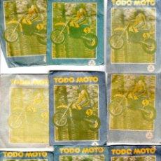 Coleccionismo deportivo: TODO MOTO. CROMOS CANO. 9 SOBRES SIN ABRIR. CON CROMOS. NUEVOS.. Lote 129409103