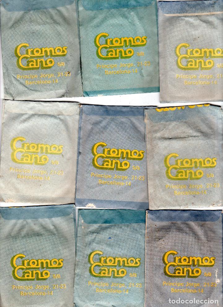 Coleccionismo deportivo: TODO MOTO. CROMOS CANO. 9 SOBRES SIN ABRIR. CON CROMOS. NUEVOS. - Foto 2 - 129409103