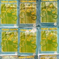 Coleccionismo deportivo: TODO MOTO. CROMOS CANO. 9 SOBRES SIN ABRIR. CON CROMOS. NUEVOS.. Lote 129409155