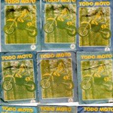 Coleccionismo deportivo: TODO MOTO. CROMOS CANO. 9 SOBRES SIN ABRIR. CON CROMOS. NUEVOS.. Lote 129409183