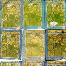 Coleccionismo deportivo: TODO MOTO. CROMOS CANO. 9 SOBRES SIN ABRIR. CON CROMOS. NUEVOS.. Lote 129409211