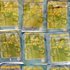 Coleccionismo deportivo: TODO MOTO. CROMOS CANO. 9 SOBRES SIN ABRIR. CON CROMOS. NUEVOS.. Lote 129409231