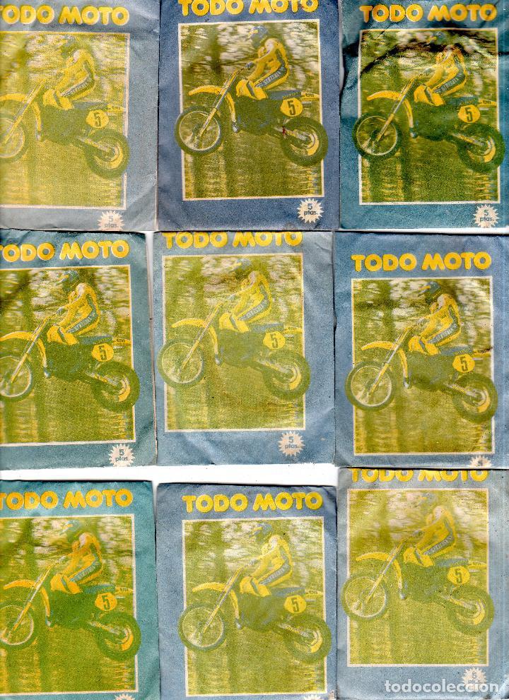 TODO MOTO. CROMOS CANO. 9 SOBRES SIN ABRIR. CON CROMOS. NUEVOS. (Coleccionismo Deportivo - Cromos otros Deportes)