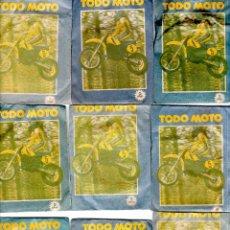 Coleccionismo deportivo: TODO MOTO. CROMOS CANO. 9 SOBRES SIN ABRIR. CON CROMOS. NUEVOS.. Lote 129409291