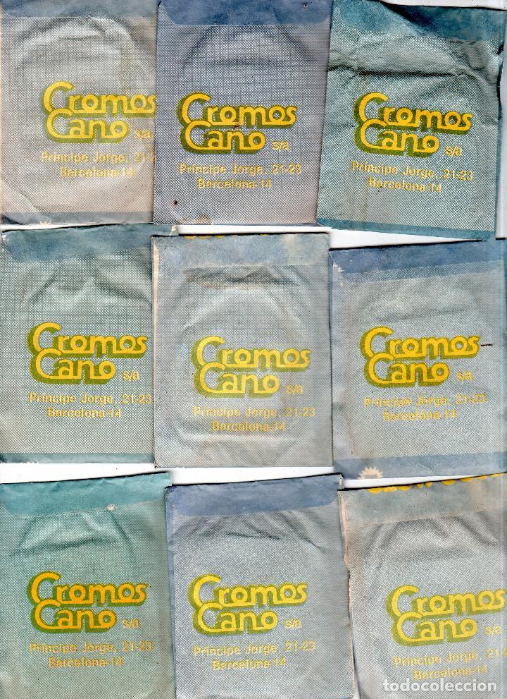 Coleccionismo deportivo: TODO MOTO. CROMOS CANO. 9 SOBRES SIN ABRIR. CON CROMOS. NUEVOS. - Foto 2 - 129409291