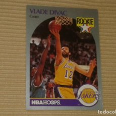 Coleccionismo deportivo: 154 VLADE DIDAC (ROOKIE) (LOS ANGELES LAKERS) NBA HOOPS 90-91. 1990. Lote 130814308