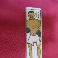 Coleccionismo deportivo: ANTIGUO CROMO DE BOXEO. HARRY WILLS. CHOCOLATES NELIA. Lote 132169126