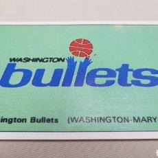 Coleccionismo deportivo: WASHINGTON BULLETS, N°179, CROMO STICKER GIGANTES DEL BASKET CONVERSE, 87/88 NUNCA PEGADO. Lote 132599907