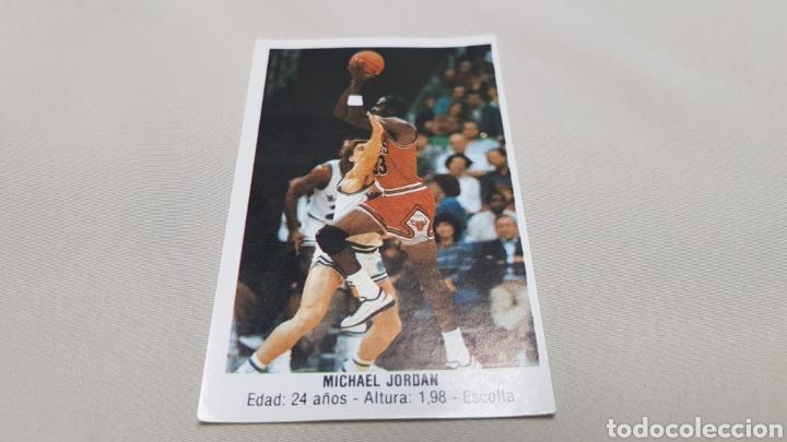 MICHAEL JORDAN, N°146, CROMO STICKER GIGANTES DEL BASKET CONVERSE 87/88 NUNCA PEGADO (Coleccionismo Deportivo - Cromos otros Deportes)