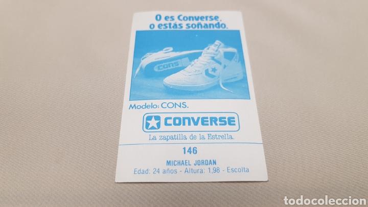 Coleccionismo deportivo: Michael jordan, n°146, cromo sticker gigantes del basket converse 87/88 nunca pegado - Foto 3 - 142832294