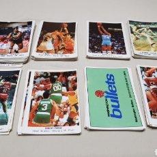 Coleccionismo deportivo: LOTE DE 118 CROMOS STICKER GIGANTES DEL BASKET CONVERSE, 87/88, NUNCA PEGADOS. Lote 132639546
