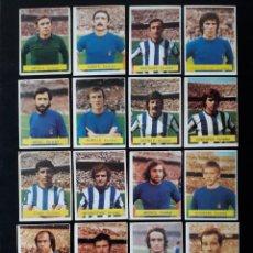 Coleccionismo deportivo: 17 CROMOS REAL SOCIEDAD. ED FINI MU. LIGA 1975-1976. 11 SIN PEGAR Y 6 DESPEGADOS. EQUIPO COMPLETO. Lote 133719661