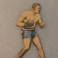 Coleccionismo deportivo: CROMO TROQUELADO BOXEO JEFFREY CONTRA JOHNSON. CHOCOLATES JAIME BOIX. Lote 134728566