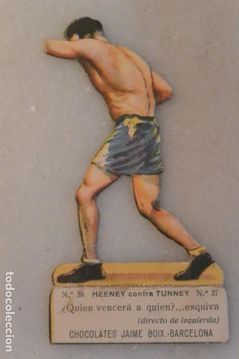 CROMO TROQUELADO DE BOXEO HEENEY CONTRA TUNNEY CHOCOLATES JAIME BOIX BARCELONA (Coleccionismo Deportivo - Cromos otros Deportes)