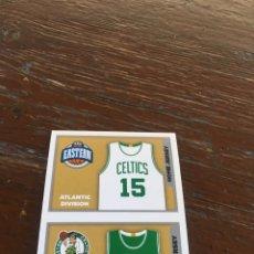 Coleccionismo deportivo: NBA PANINI 2015 2016 SIN PEGAR CELTICS BOSTON ESCUDO RÉCORD NÚMERO 14. Lote 134842086