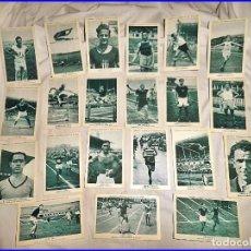 Coleccionismo deportivo: 21 CROMOS DE LA COLECCIÓN CROMOS CAMPEONES. ESPAÑA ATLETISMO LECHE CONDENSADA NURIA. COMPLETA.. Lote 135191618