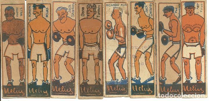 (PA-181000)LOTE DE 8 CROMOS DE BOXEO AÑOS 20 - CHOCOLATES NELIA (Coleccionismo Deportivo - Cromos otros Deportes)