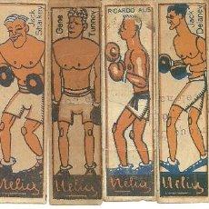 Coleccionismo deportivo: (PA-181000)LOTE DE 8 CROMOS DE BOXEO AÑOS 20 - CHOCOLATES NELIA. Lote 135255322