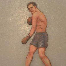 Coleccionismo deportivo: CROMO TROQUELADO DE BOXEO MARTINEZ CONTRA SID TERRIS. Nº 32 CHOCOLATES JAIME BOIX BARCELONA. Lote 135359514