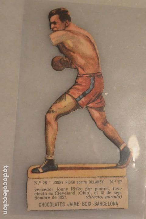 CROMO TROQUELADO DE BOXEO JHONY RISCO CONTRA DELANAY Nº 28 CHOCOLATES JAIME BOIX BARCELONA (Coleccionismo Deportivo - Cromos otros Deportes)