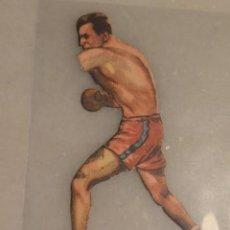 Coleccionismo deportivo: CROMO TROQUELADO DE BOXEO JHONY RISCO CONTRA DELANAY Nº 28 CHOCOLATES JAIME BOIX BARCELONA. Lote 135359710