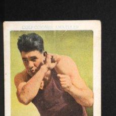 Coleccionismo deportivo: CROMO DE BOXEO PAULINO UZCUDUN- CHOCOLATE AMATLLER. Lote 137874242