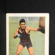 Coleccionismo deportivo: CROMO DE BOXEO PAULINO UZCUDUN- CHOCOLATE AMATLLER. Lote 137874326