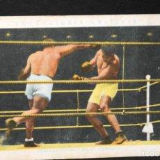Coleccionismo deportivo: CROMO DE BOXEO PAULINO UZCUDUN Y SPALLA EN EL COMBATE- CHOCOLATE AMATLLER. Lote 137874894